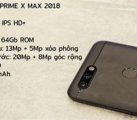 Trên tay Mobiistar Prime X Max 2018: Màn hình vô cực, 4 camera trước sau, giá 6.789 triệu