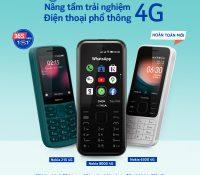 Nokia 8000 4G, Nokia 6300 4G, Nokia 215 4G giá từ 750 nghìn đồng, bán 16/11